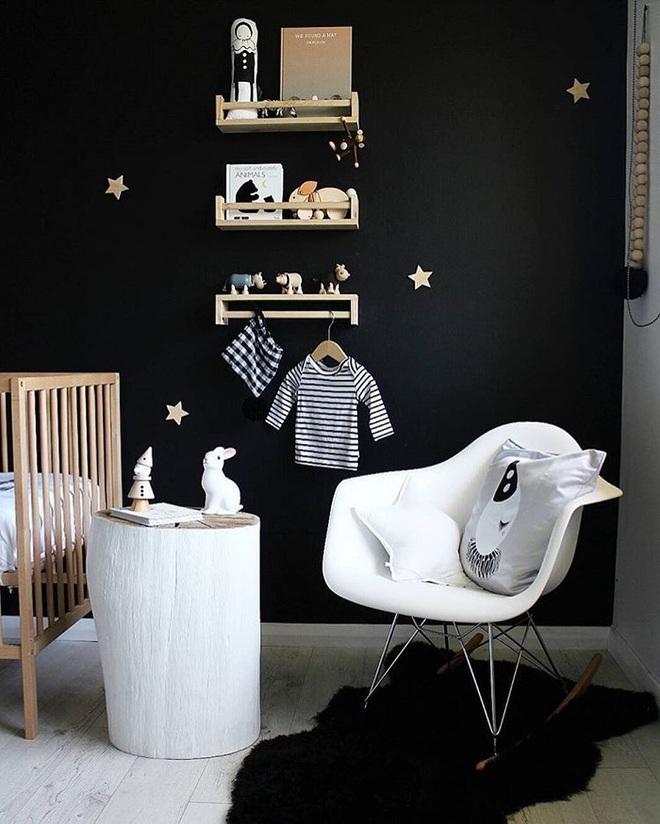 Những kiểu trang trí tường đen thật đẹp mắt trong phòng ngủ của các bé - Ảnh 18.