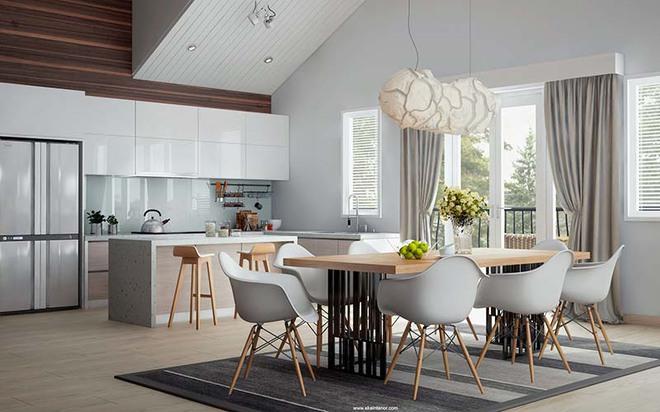 Tham khảo ngay những mẫu thiết kế này nếu bạn muốn có một phòng ăn đẹp miễn chê - Ảnh 2.