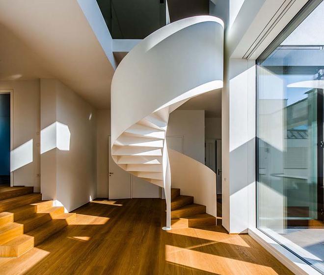 Nếu bạn nghĩ đơn giản sẽ khó tạo ấn tượng thì phải nhìn ngay những mẫu cầu thang này - Ảnh 14.