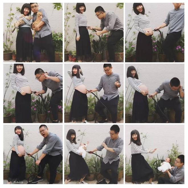 Chỉ với 9 bức ảnh, cặp vợ chồng trẻ đã kể hành trình mang thai - sinh con theo cách chẳng giống ai - Ảnh 2.
