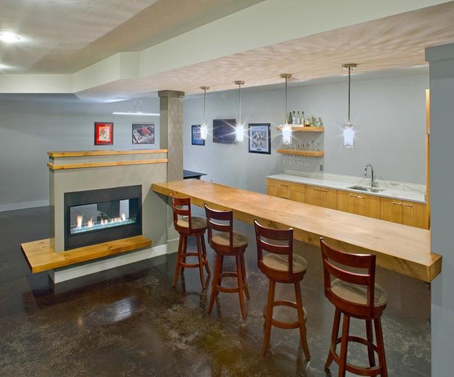 Khiến mọi vị khách đến chơi đều phải xuýt xoa khen ngợi với mẫu quầy bar tại nhà hiện đại - Ảnh 9.