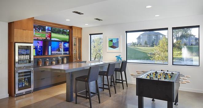 Khiến mọi vị khách đến chơi đều phải xuýt xoa khen ngợi với mẫu quầy bar tại nhà hiện đại - Ảnh 11.