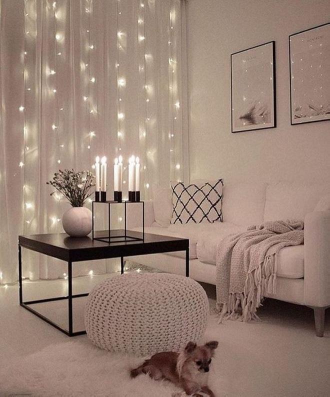 Những điều bạn cần phải biết về việc sử dụng đèn dây trong trang trí phòng khách - Ảnh 6.