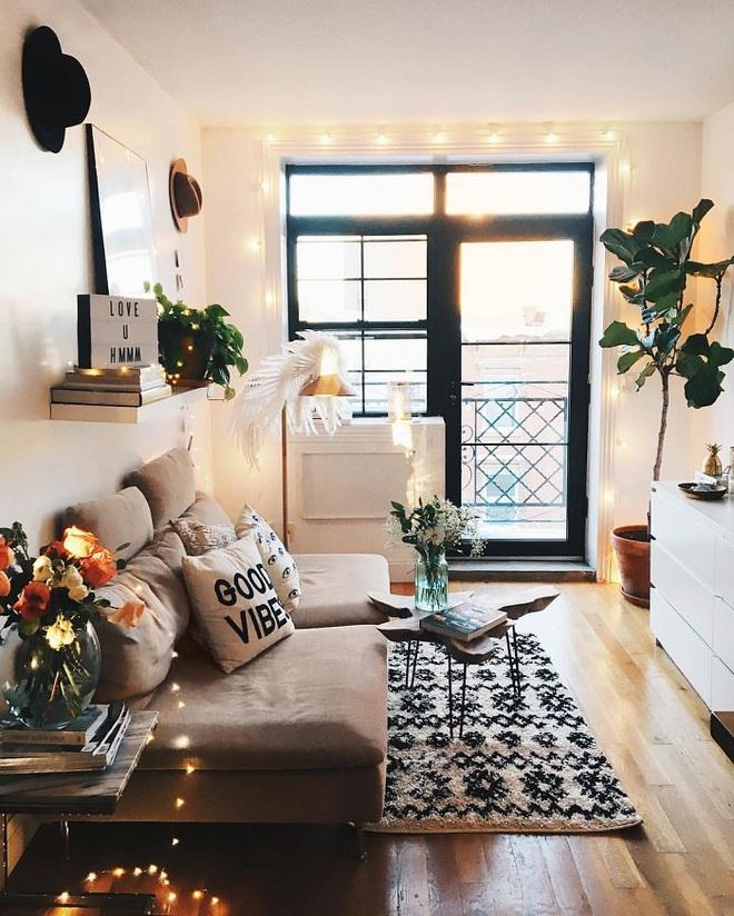 Những điều bạn cần phải biết về việc sử dụng đèn dây trong trang trí phòng khách - Ảnh 9.