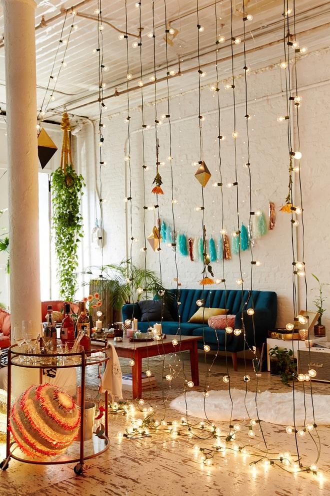 Những điều bạn cần phải biết về việc sử dụng đèn dây trong trang trí phòng khách - Ảnh 10.
