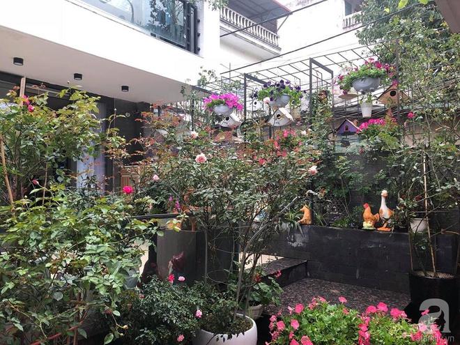 Khoảng sân rộn ràng hoa lá cùng tiếng chim ca vô cùng yên bình của bà mẹ 3 con ở Nghi Tàm, Hà Nội - Ảnh 16.