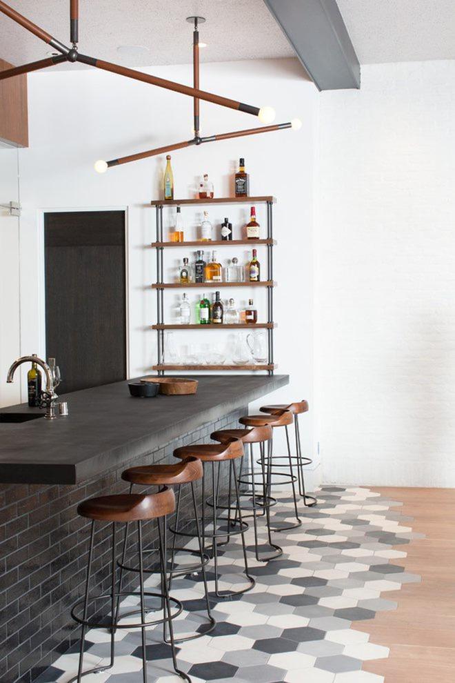 Những mẫu quầy bar chất lừ mà bạn có thể tự thiết kế ngay trong không gian sống của mình - Ảnh 9.