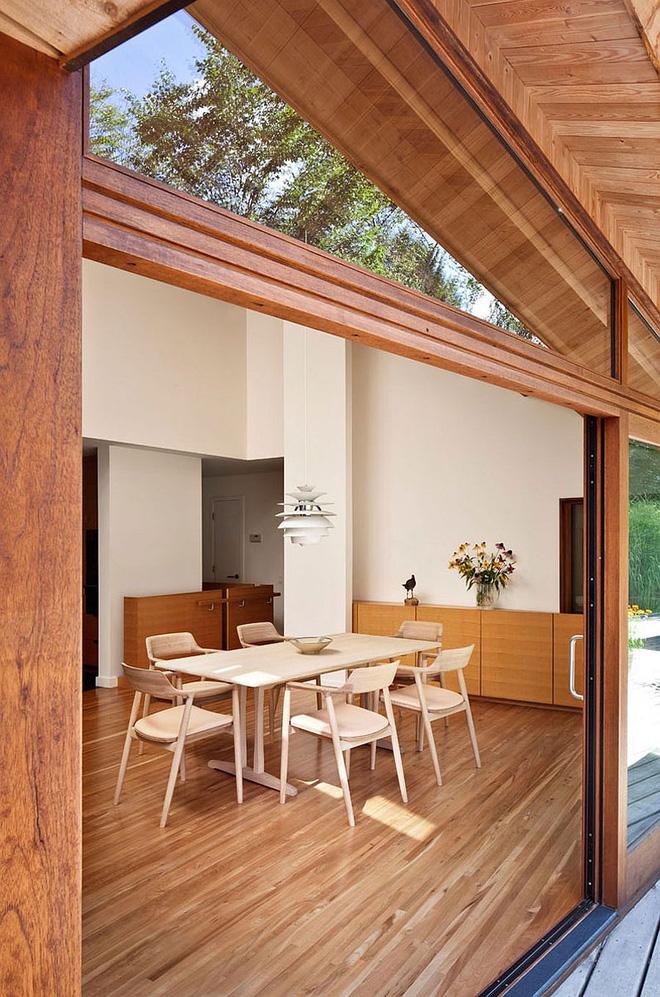 Lấy chủ đề là gỗ với không gian sống mở hoàn toàn với thiên nhiên, đây chính là ngôi nhà mà ai cũng ao ước - Ảnh 4.