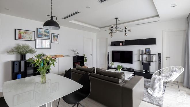 Căn hộ đen trắng 100m² đẹp như nhà trên báo nước ngoài với tổng chi phí 850 triệu đồng ở Thanh Xuân, Hà Nội - Ảnh 4.