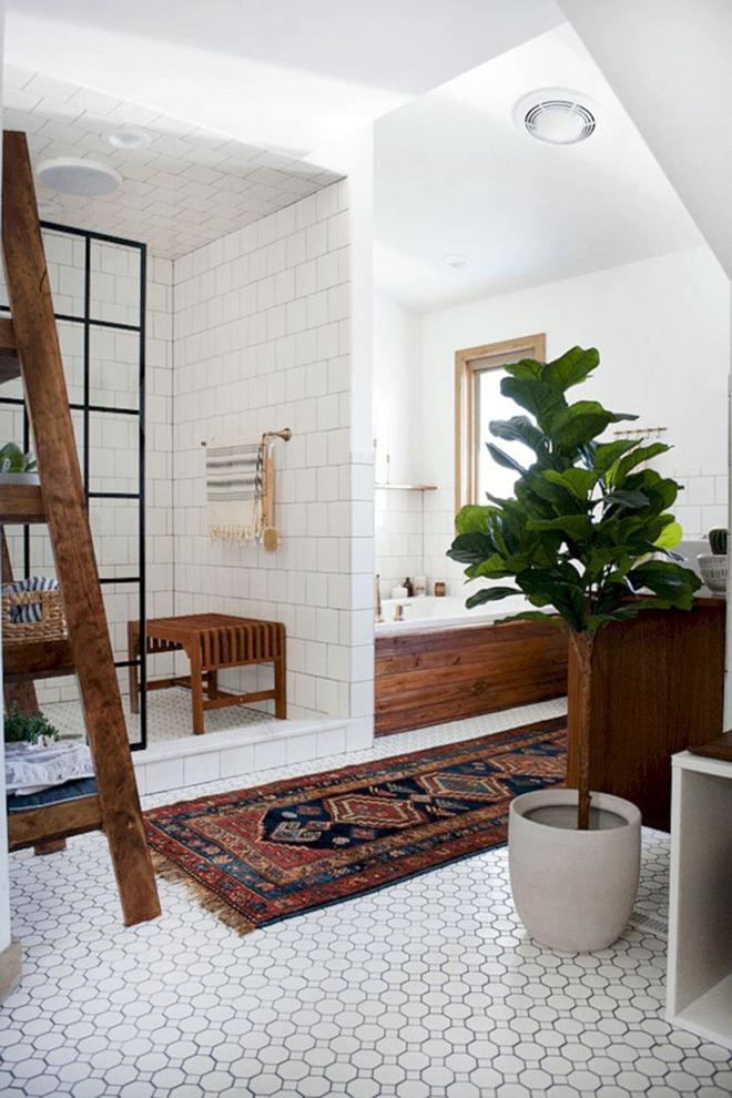 Có thể bạn không tin nhưng phong cách Bohemian cũng hợp với phòng tắm lắm đấy - Ảnh 4.