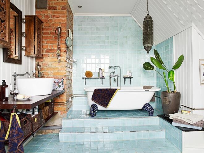 Có thể bạn không tin nhưng phong cách Bohemian cũng hợp với phòng tắm lắm đấy - Ảnh 8.