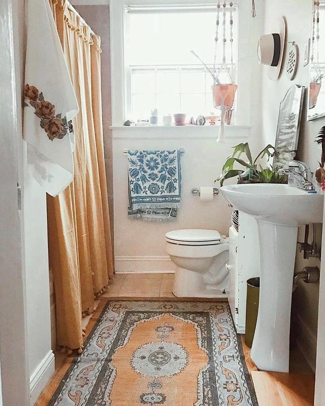 Có thể bạn không tin nhưng phong cách Bohemian cũng hợp với phòng tắm lắm đấy - Ảnh 12.