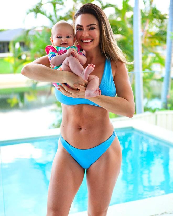 Bụng phẳng lì sau sinh, hot mom phòng gym nhắn nhủ điều quan trọng nhất với các mẹ   - Ảnh 9.
