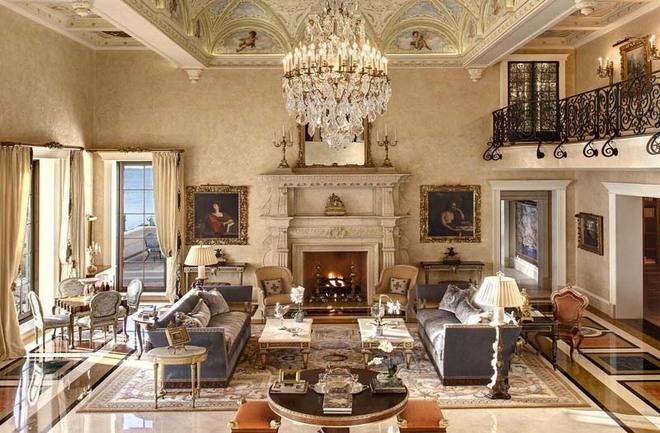 Choáng ngợp trước vẻ đẹp sang chảnh của những phòng khách mang phong cách Baroque - Ảnh 1.