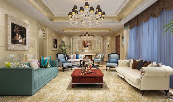 Choáng ngợp trước vẻ đẹp sang chảnh của những phòng khách mang phong cách Baroque - Ảnh 4.