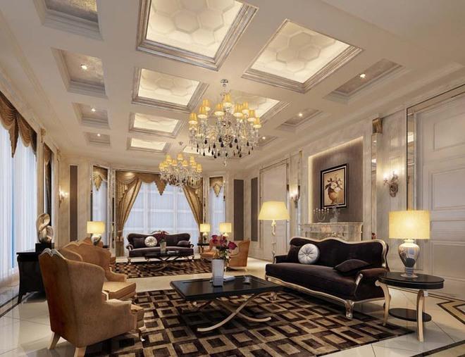 Choáng ngợp trước vẻ đẹp sang chảnh của những phòng khách mang phong cách Baroque - Ảnh 9.