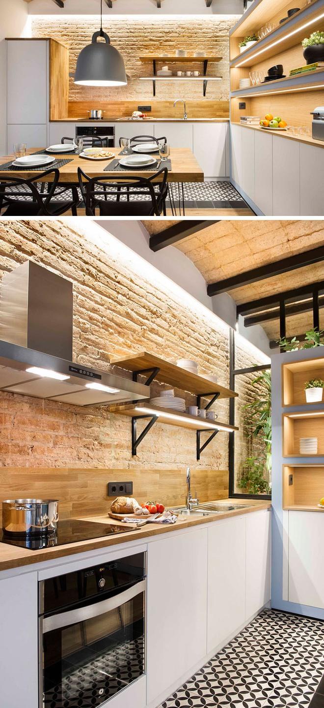 Những căn bếp nhỏ đẹp tới mức bạn sẵn sàng bỏ bếp rộng để được ở trong không gian này - Ảnh 9.