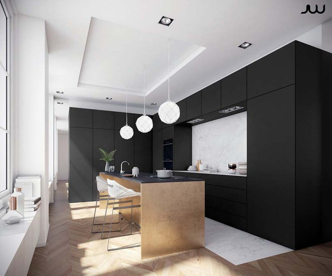 Sử dụng màu đen trong trang trí bếp: Kết quả vừa sạch vừa đẹp đến khó tin - Ảnh 4.