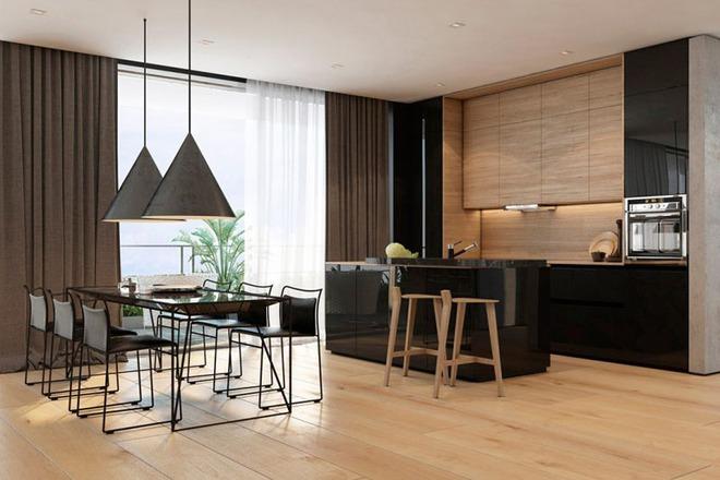 Sử dụng màu đen trong trang trí bếp: Kết quả vừa sạch vừa đẹp đến khó tin - Ảnh 8.