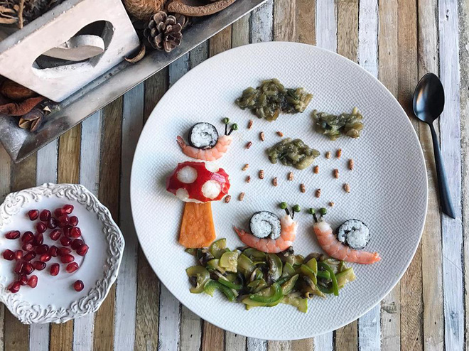 Mẹ Việt ở Pháp trang trí bữa ăn cho con chẳng khác gì những tác phẩm nghệ thuật đỉnh cao - Ảnh 3.