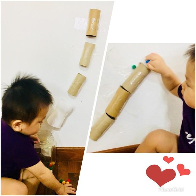 Gặp bà mẹ siêu sáng tạo hay gom rác chơi với con, lợi đủ trăm đường mà không tốn mấy đồng mua đồ chơi - Ảnh 9.