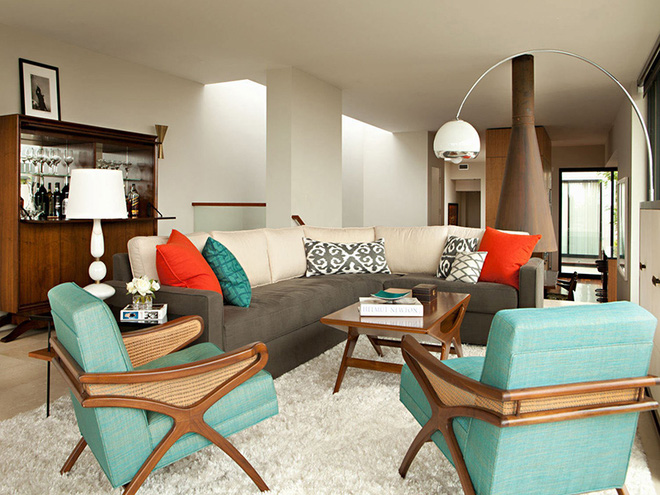 Ngây ngất trước vẻ đẹp của những phòng khách mang phong cách midcentury hiện đại nhưng vô cùng ấm cúng - Ảnh 7.