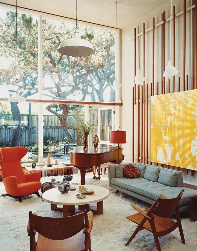 Ngây ngất trước vẻ đẹp của những phòng khách mang phong cách midcentury hiện đại nhưng vô cùng ấm cúng - Ảnh 10.