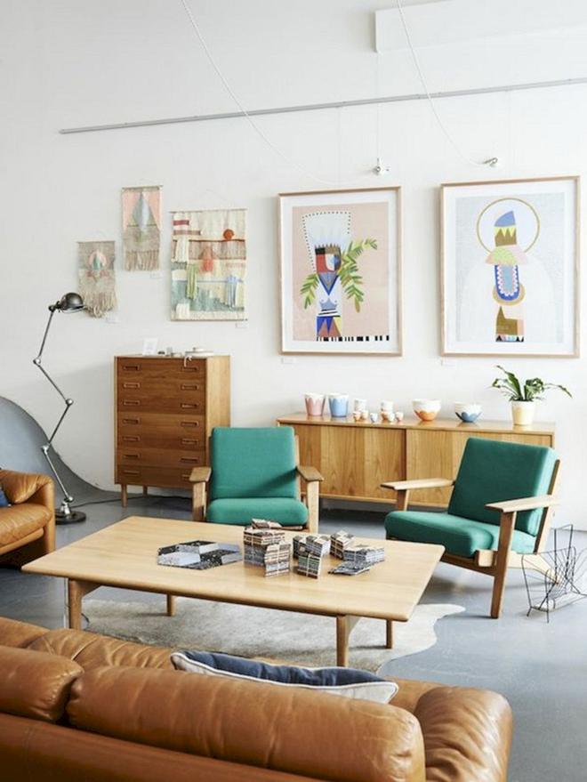 Ngây ngất trước vẻ đẹp của những phòng khách mang phong cách midcentury hiện đại nhưng vô cùng ấm cúng - Ảnh 11.