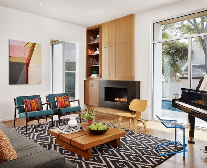 Ngây ngất trước vẻ đẹp của những phòng khách mang phong cách midcentury hiện đại nhưng vô cùng ấm cúng - Ảnh 12.