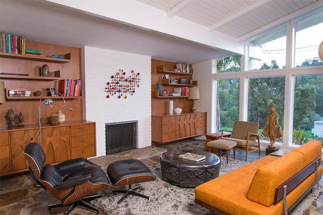 Ngây ngất trước vẻ đẹp của những phòng khách mang phong cách midcentury hiện đại nhưng vô cùng ấm cúng - Ảnh 14.
