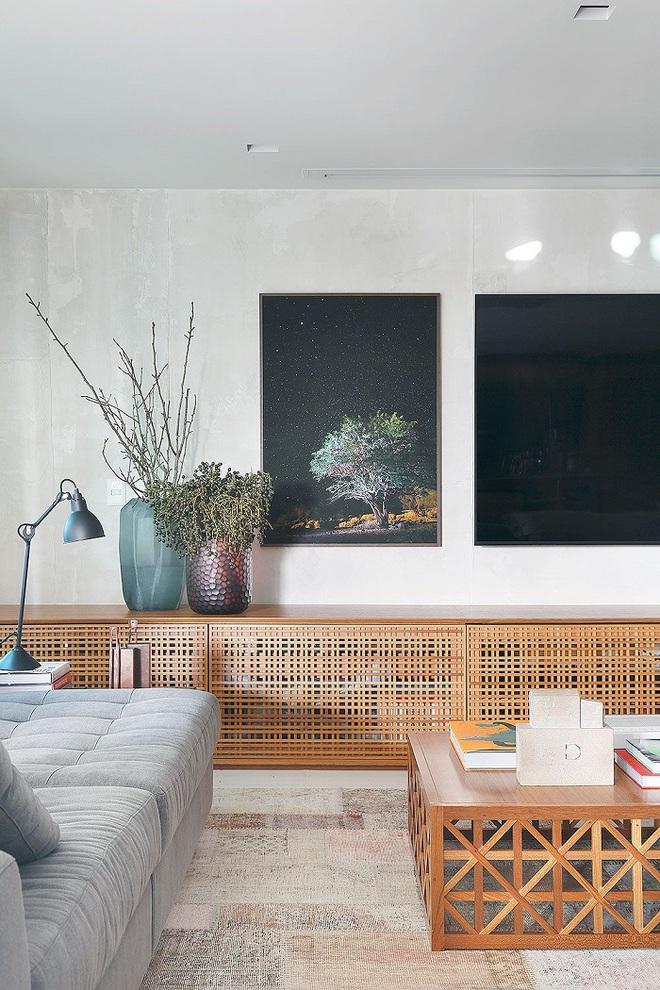 Xu hướng dùng thiết kế gỗ lưới cho nội thất trong nhà, đảm bảo đẹp không chê vào đâu được - Ảnh 10.