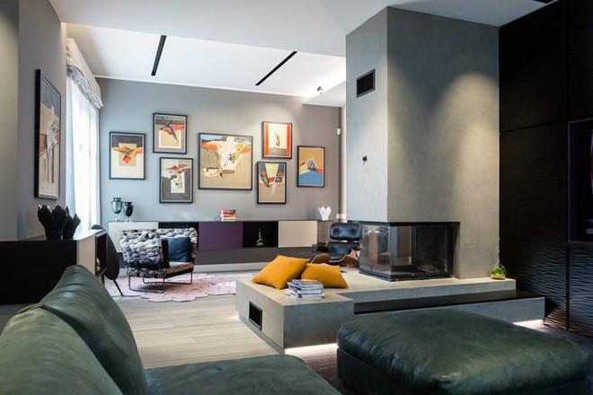 Ấn tượng với căn hộ kết hợp màu sắc trắng đen - Ảnh 1.