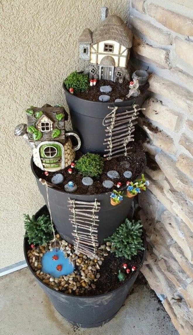 Cách đơn giản và dễ làm để tạo tháp chậu cây cho khu vườn hay hiên nhà bạn thêm sinh động - Ảnh 12.