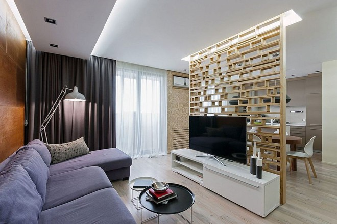 Độc đáo, lạ mắt lại vô cùng ấm áp ngay khi nhìn thấy: 10 phòng khách với thiết kế bức tường gỗ này sẽ chinh phục bạn - Ảnh 5.