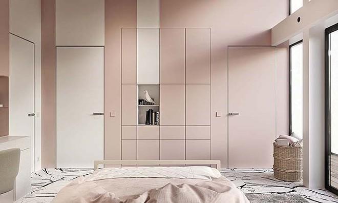 Phòng ngủ màu hồng vừa lạ vừa sang trọng - Ảnh 6.