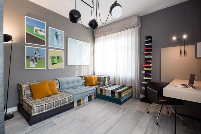 Ấn tượng với căn hộ kết hợp màu sắc trắng đen - Ảnh 7.