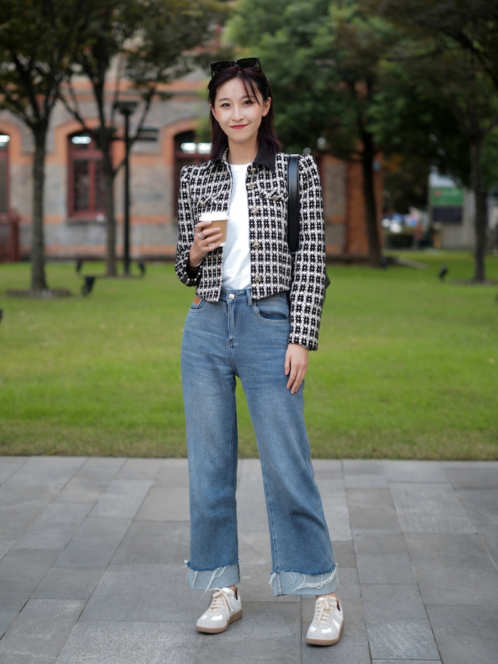 Street style Châu Á: Quần jeans là được chọn nhiều nh - Ảnh 12.