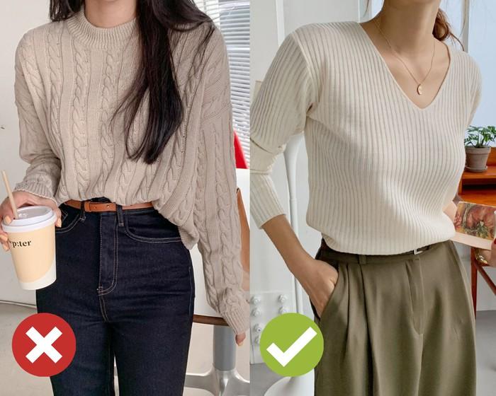 4 mẹo chọn áo len giúp vóc dáng như gầy đi 5kg, đơn giản lắm nhưng khối chị em chẳng biết - Ảnh 3.
