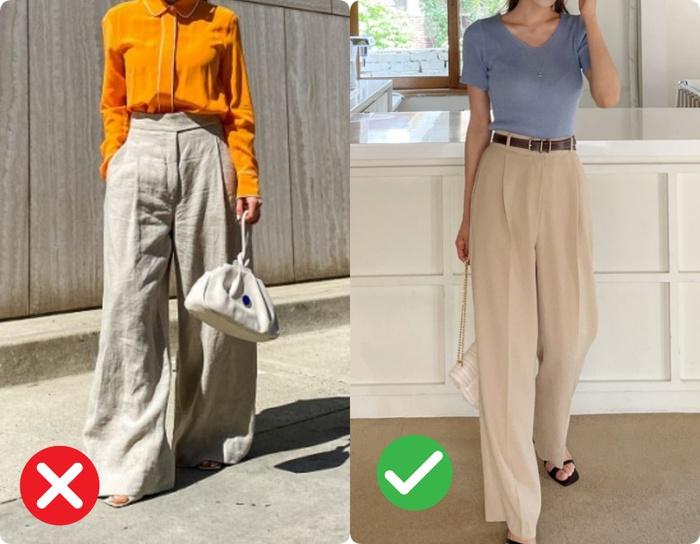 Quần ống rộng hack chân cực đỉnh nhưng vẫn có 4 kiểu quần khiến bạn luộm thuộm kém sang không nên diện đi làm - Ảnh 1.
