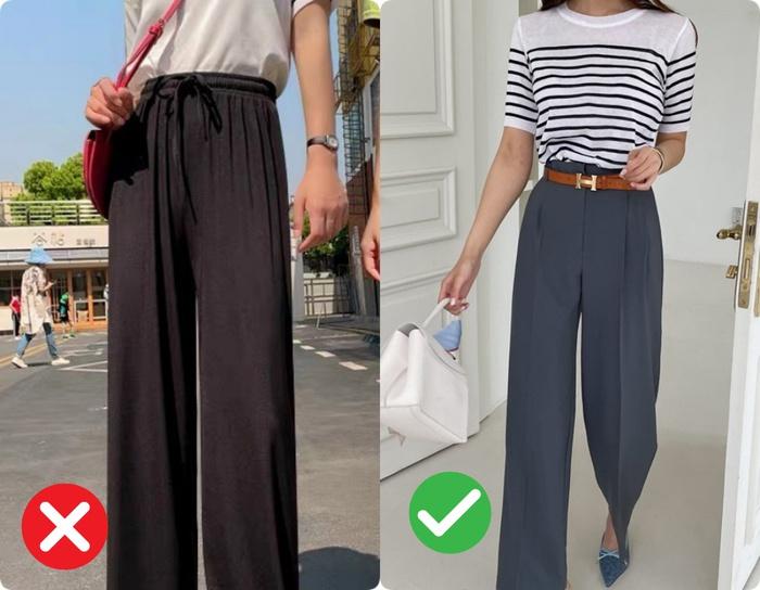 Quần ống rộng hack chân cực đỉnh nhưng vẫn có 4 kiểu quần khiến bạn luộm thuộm kém sang không nên diện đi làm - Ảnh 6.