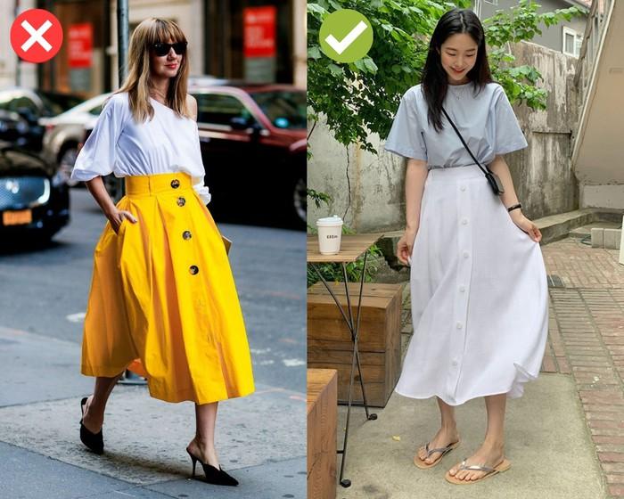 3 lỗi diện chân váy lửng khiến người ngắn lại, nàng cao hay thấp đều phải chú ý - Ảnh 2.