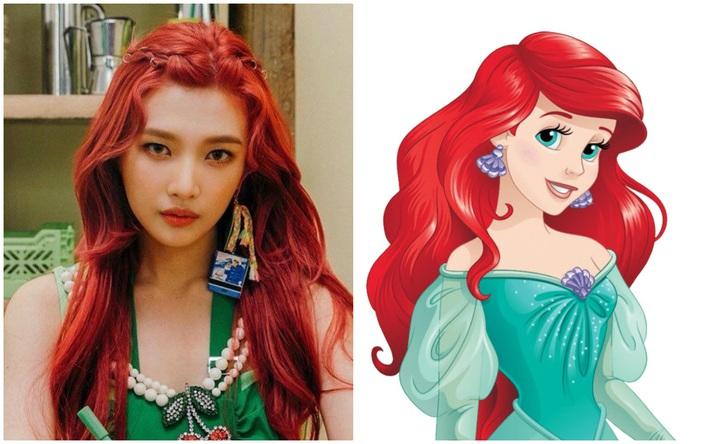 Nhờ stylist quá lậm phim hoạt hình, Joy (Red Velvet) bỗng dưng trở thành công chúa Disney đời thực tới gần chục lần - Ảnh 3.