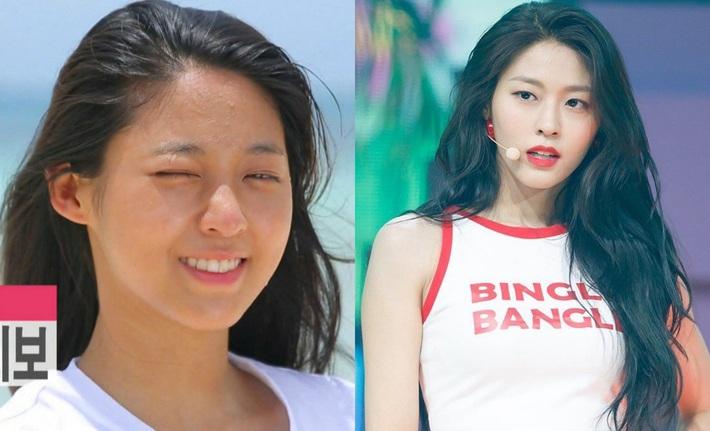 Bỏ đi lớp makeup đậm, không ít sao Hàn từng gây ngã ngửa với làn da đen nhẻm, sần sùi lấm tấm mụn - Ảnh 4.