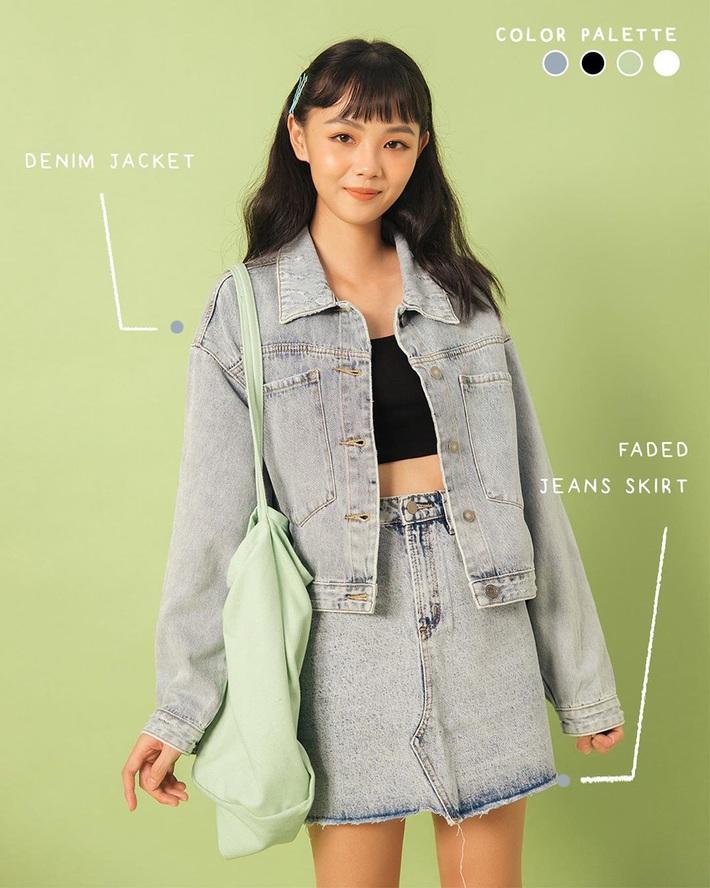 8 gợi ý để chị em tậu về áo khoác denim xịn sò, thu này mix đồ là không ai chê được bạn - Ảnh 15.