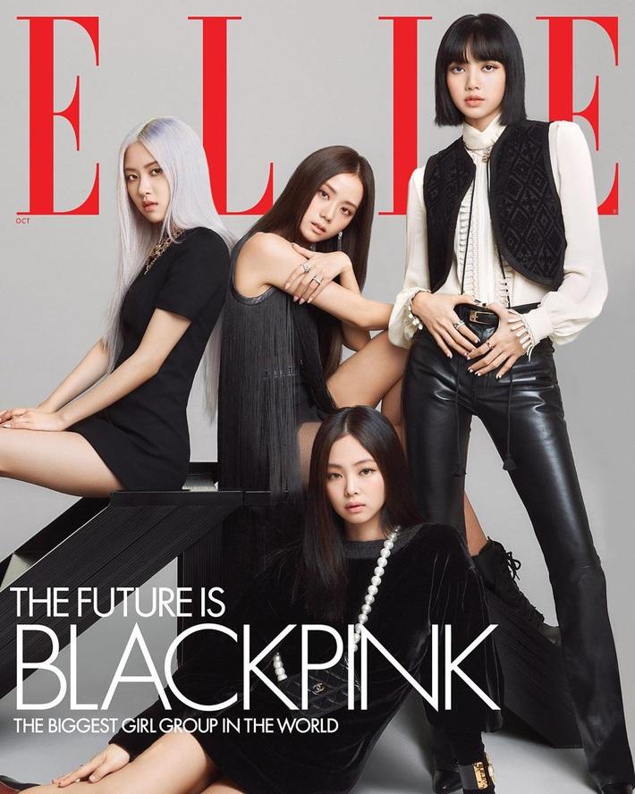 BLACKPINK lên hẳn bìa Elle Mỹ: Ngất lịm với kiểu tóc già đanhcủa Jennie, Rosé xuất thần, Jisoo - Lisa vẫn một màu - Ảnh 1.