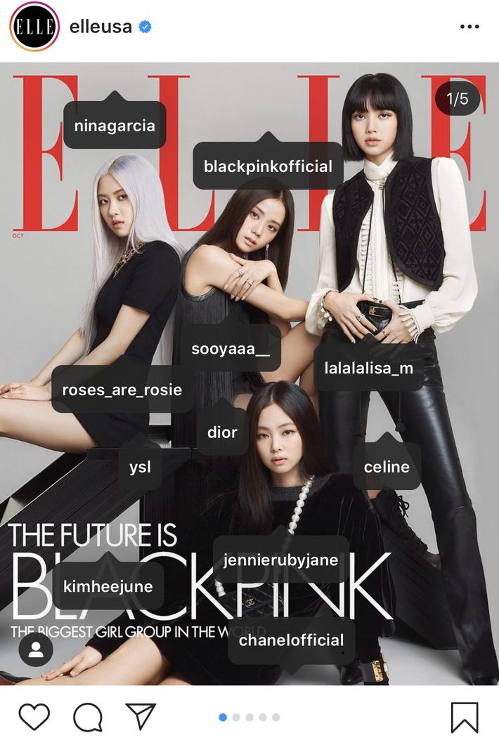 Ảnh bìa Elle Mỹ tỏa ra mùi tiền của BLACKPINK: Mỗi cô dắt túi một nhà mốt cao cấp, đã vậy còn diện toàn trang sức tiền tỷ - Ảnh 1.