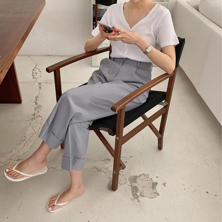 Mix quần âu ống rộng với loạt kiểu áo sau, cô gái nào cũng được khen style xinh, dáng đẹp - Ảnh 2.