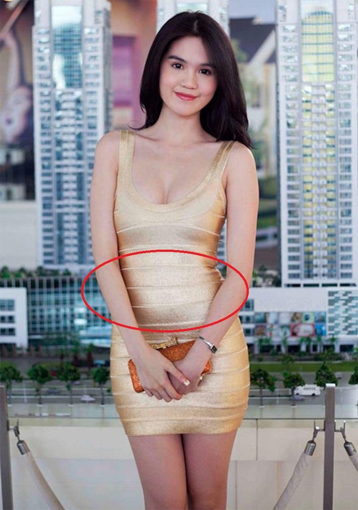 Cùng diện váy bó, 9 năm trước Ngọc Trinh lộ mỡ bụng muối mặt, giờ dáng nuột đến độ chẳng cần photoshop - Ảnh 6.