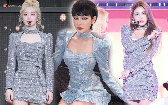 Hiền Hồ thì đúng là người dưng với Somi và Dahyun nhưng sao chiếc váy cô mặc lại như chị em họ với váy của 2 đại diện Kbiz? - Ảnh 5.
