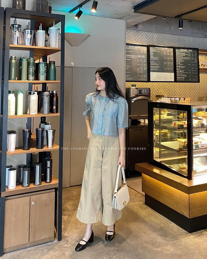 Item sắm mùa thu diện quanh năm chính là quần màu be: Đẹp mọi nơi mọi lúc, mix với áo gì cũng ok lah - Ảnh 9.